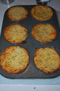 mash potato muffins