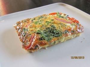 breakfast spinach & feta quiche