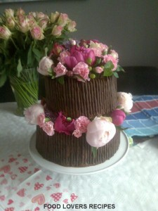 chocolate cake wedding cake Kim