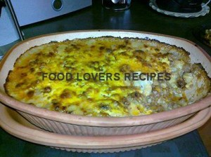 mac and cheese with mince diane