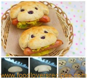 fun-easy-party-kides-snacks-recipes-hot-dog-face