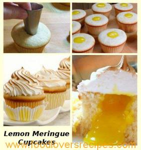 lemon meringue cupcakes soft centre