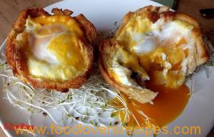 Gebakte eiermuffins